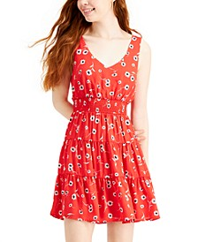 Juniors' Tiered Tie-Back Dress