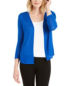 Textured Ottoman-Ribbed Cardigan, Created for Macy's