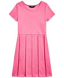 폴로 랄프로렌 Polo Ralph Lauren Big Girls Pleated Ottoman-Rib Dress,Baja Pink
