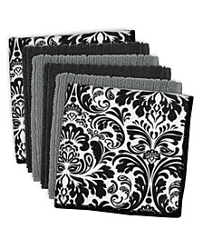 Microfiber Damask Dishcloth, Set of 6