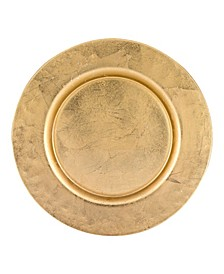 """Glamour 13"""" Handmade Glass Charger with Rim Finish"""