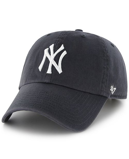 47 Brand New York Yankees Clean Up Hat - Sports Fan Shop By Lids ... 8f2b2cca83bf