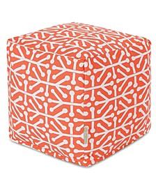 """Aruba Ottoman Pouf Cube 17"""" x 17"""""""