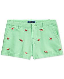 Little Girls Espadrille Cotton Chino Shorts