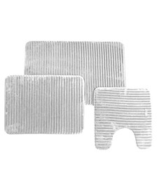 3pc Memory Foam Bath Rug Set
