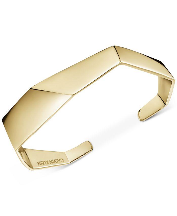 Calvin Klein - Angled Cuff Bracelet in Gold-Tone