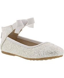 Big Girls Rose Bow Ballet Shoe