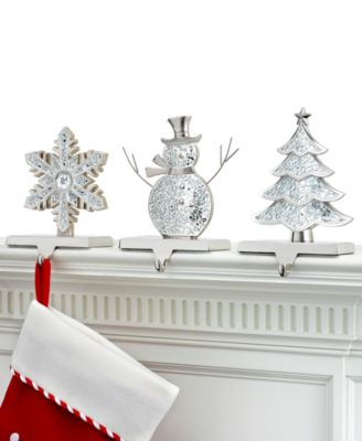 holiday lane christmas stocking holder assortment holiday lane for the home macyu0027s - Stocking Hangers For Mantle