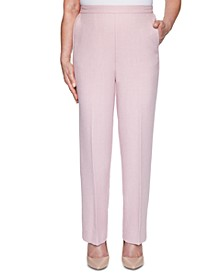 Petite Primrose Garden Textured Pull-On Pants