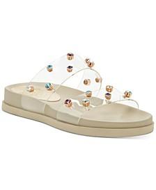 Women's Partha Clear Jeweled Slide Sandals