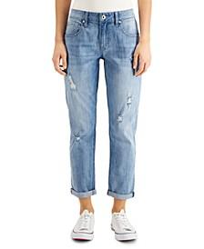Roll-Cuff Boyfriend Jeans