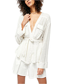 Free People Belted Wrap Top