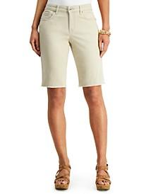 Raw-Edge Bermuda Shorts, Created for Macy's