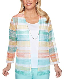 Petite Spring Lake Watercolor Biadere Two-For-One Top