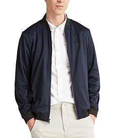 Men's Mixed-Media Bomber Jacket, Created for Macy's