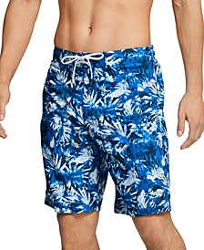 "Men's Bondi Ombré Gradient Floral 2-Way Stretch UPF 50+ 9"" Board Shorts"