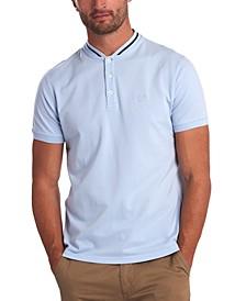 Men's Galloch Tipped Baseball-Collar Polo Shirt