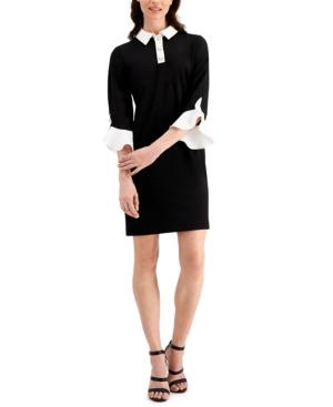 Karl Lagerfeld KARL LAGERFELD BELL-SLEEVE SHEATH DRESS