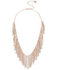 """Crystal Fringe Frontal Necklace, 18"""" + 3"""" extender"""