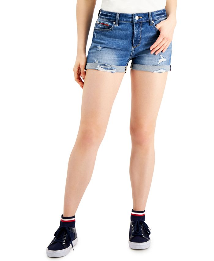 Tommy Jeans - Ripped Denim Shorts
