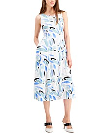 Petite Printed Fit & Flare Dress, Created for Macy's