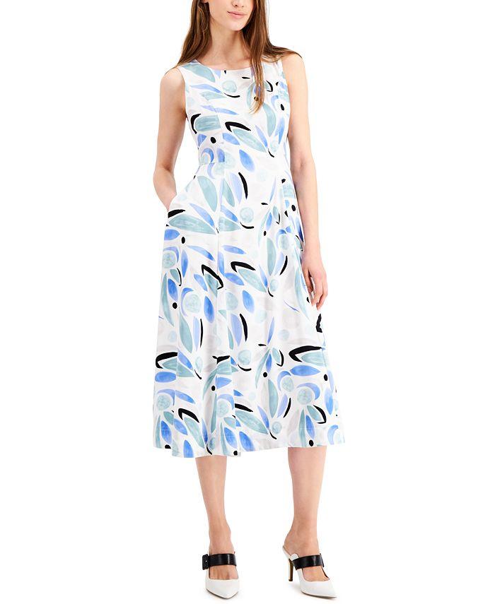 Alfani - Printed Fit & Flare Dress