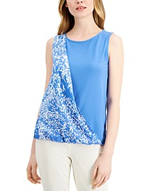 Print Sash Top, Created for Macy's