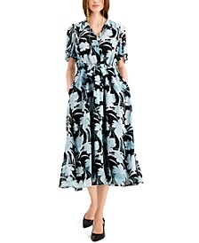 Flutter Sleeve Dress, Created for Macy's