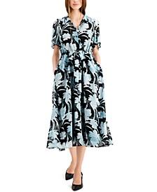 Flutter Sleeve Dress, Created for Macy's
