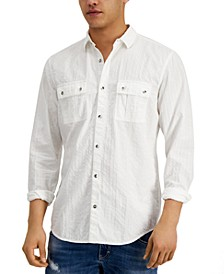 INC Men's Seersucker Utility Shirt, Created for Macy's