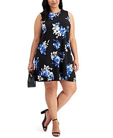 Jessica Howard Plus Size Trapeze Shift Dress