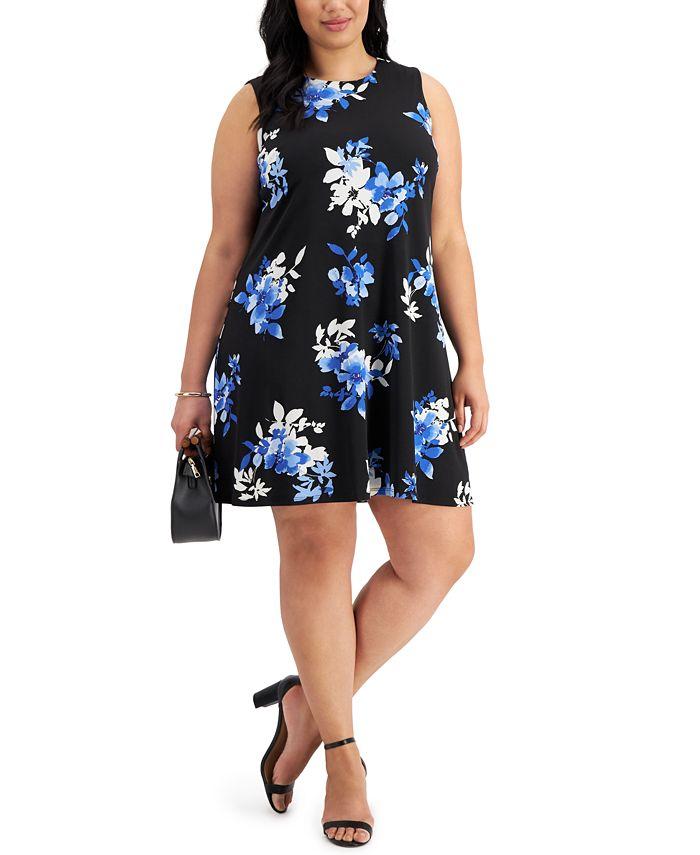 Jessica Howard - Plus Size Trapeze Shift Dress