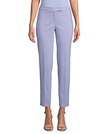 Double-Weave High-Rise Ankle Pants