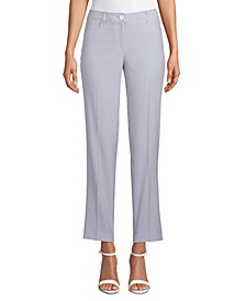 Seersucker High-Rise Pants