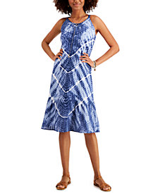 Style & Co Tie-Dyed Midi Dress, In Regular and Petite, Created for Macy's