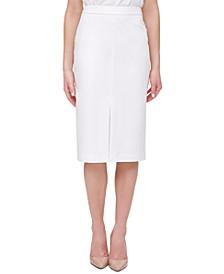 Front-Slit Pencil Skirt