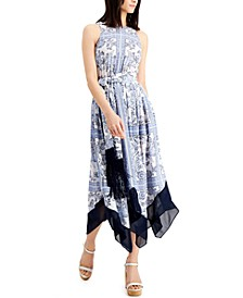 Printed Fit & Flare Sleeveless Dress