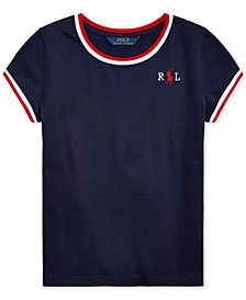 Big Girls Embroidered Cotton Jersey T-Shirt
