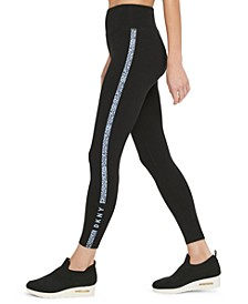 Sport Printed-Stripe High-Waist Leggings