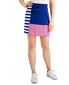 Stripe Blocking Skirt