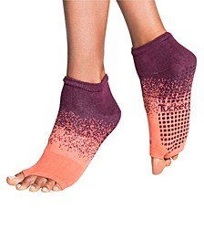 Women's Open Toe Grip Sock for Pilates Barre Yoga Anklet