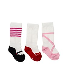 Baby Girls Mixed Shoe Knee Socks, Pack of 3