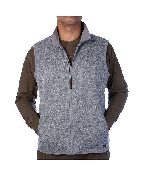 Smith's Workwear Men's Full Zip Sweater Vest