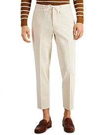 Men's Slim-Fit Drawstring Dress Pants, Created for Macy's