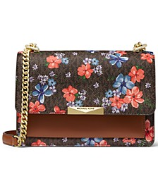 Jade Floral Gusset Shoulder Bag