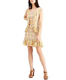 Ruffled Plaid Dress, Regular & Petite
