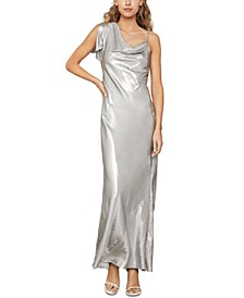 Metallic Satin Gown