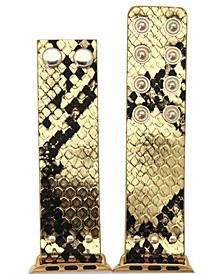 Metallic Snake Snap Button Apple Watch Band