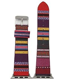 Striped Fabric Apple Watch Band