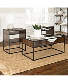 3-Piece Metal and Glass Accent Table Set